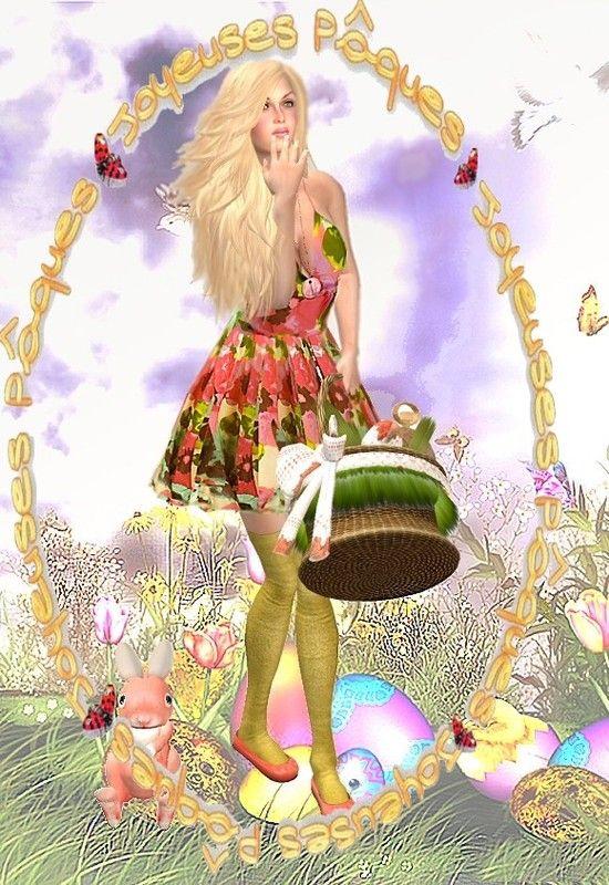 Jeune fille Pâques